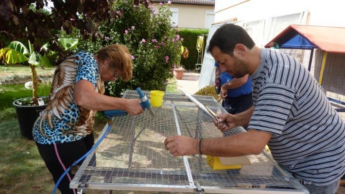 Fabrication volières septembre 2015