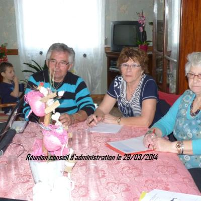 Réunion C A  le 29-03-2014